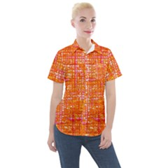 Mosaic Tapestry Women s Short Sleeve Pocket Shirt