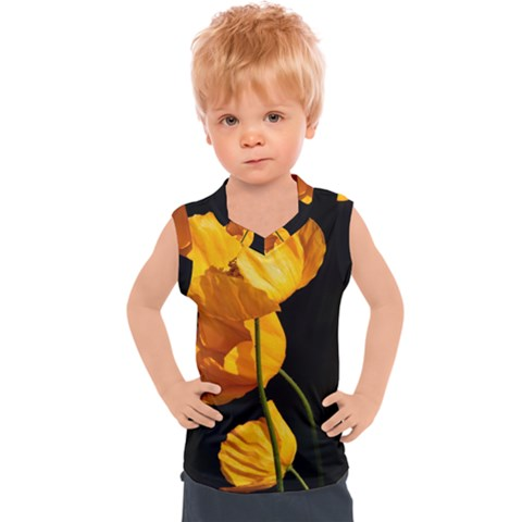 Yellow Poppies Kids  Sport Tank Top by Audy