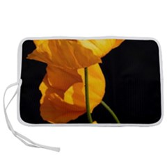 Yellow Poppies Pen Storage Case (s) by Audy