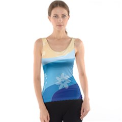 Flower Branch Corolla Wreath Lease Tank Top