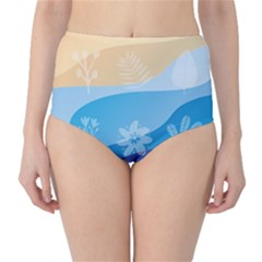 Flower Branch Corolla Wreath Lease Classic High-waist Bikini Bottoms