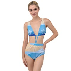 Flower Branch Corolla Wreath Lease Tied Up Two Piece Swimsuit