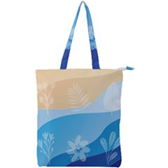 Flower Branch Corolla Wreath Lease Double Zip Up Tote Bag