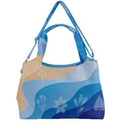Flower Branch Corolla Wreath Lease Double Compartment Shoulder Bag