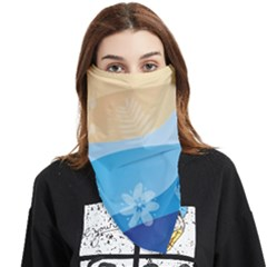 Flower Branch Corolla Wreath Lease Face Covering Bandana (triangle)