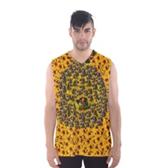 Lizards In Love In The Land Of Flowers Men s Basketball Tank Top
