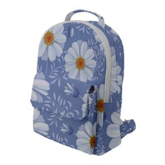 Chamomile Flower Flap Pocket Backpack (large) by goljakoff