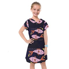 Fish Pisces Astrology Star Zodiac Kids  Drop Waist Dress