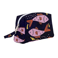 Fish Pisces Astrology Star Zodiac Wristlet Pouch Bag (medium)