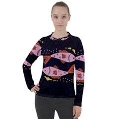 Fish Pisces Astrology Star Zodiac Women s Pique Long Sleeve Tee