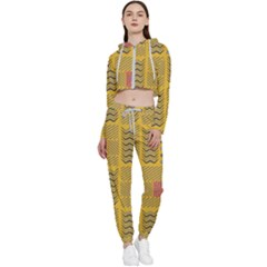 Digital Paper African Tribal Cropped Zip Up Lounge Set by HermanTelo