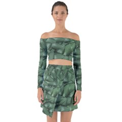 Gc (87) Off Shoulder Top With Skirt Set by GiancarloCesari