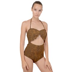 Gc (73) Scallop Top Cut Out Swimsuit