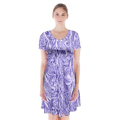Gc (47) Short Sleeve V-neck Flare Dress