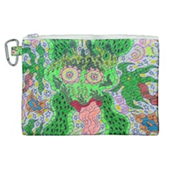 Supersonicfrog Canvas Cosmetic Bag (xl) by chellerayartisans