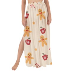 Ginger Bread And Coffee Love Maxi Chiffon Tie-up Sarong