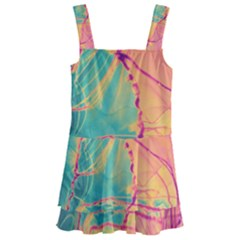 Alcohol Ink Kids  Layered Skirt Swimsuit