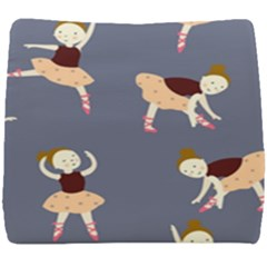 Cute  Pattern With  Dancing Ballerinas On The Blue Background Seat Cushion
