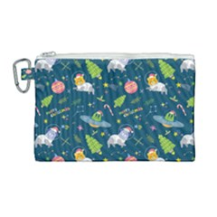 Space Christmas Space Christmas Canvas Cosmetic Bag (large)
