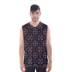 Dark Seamless Gemoetric Print Mosaic Men s Basketball Tank Top
