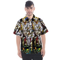 Christian Window Glass Art Print Men s Short Sleeve Shirt