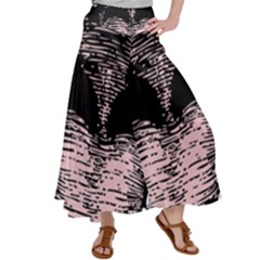 Mouth Human Teeth Open Tongue Satin Palazzo Pants