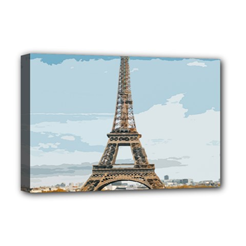 The Eiffel Tower  Deluxe Canvas 18  X 12  (stretched) by ArtsyWishy