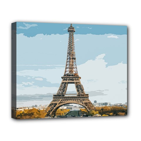 The Eiffel Tower  Deluxe Canvas 20  X 16  (stretched) by ArtsyWishy