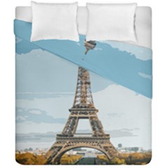 The Eiffel Tower  Duvet Cover Double Side (california King Size) by ArtsyWishy