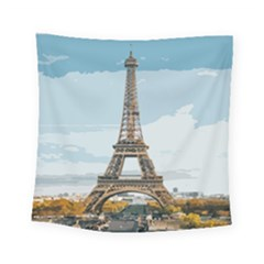 The Eiffel Tower  Square Tapestry (small) by ArtsyWishy