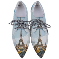 The Eiffel Tower  Pointed Oxford Shoes by ArtsyWishy