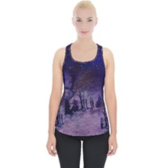 Winter Nights In The Forest Piece Up Tank Top