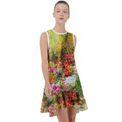Forest Flowers  Frill Swing Dress