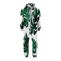 Illustrations Monstera Leafes Hooded Jumpsuit (kids)