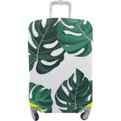 Illustrations Monstera Leafes Luggage Cover (large)