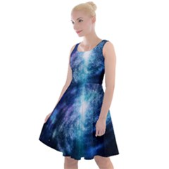 The Galaxy Knee Length Skater Dress by ArtsyWishy