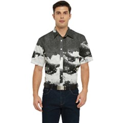 Whale Dream Men s Short Sleeve Pocket Shirt
