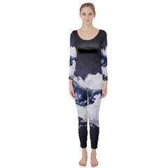 Blue Whale Dream Long Sleeve Catsuit
