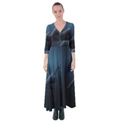 Whales Family Button Up Maxi Dress by goljakoff
