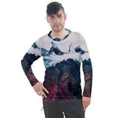 Dream Whale Men s Pique Long Sleeve Tee