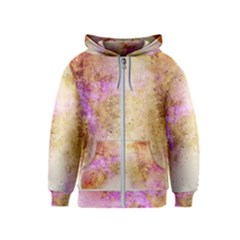 Golden Paint Kids  Zipper Hoodie