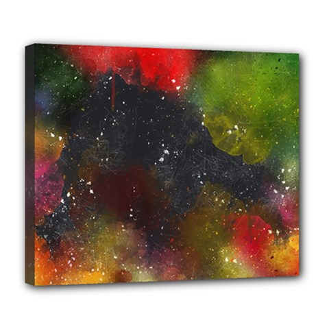Color Splashes Deluxe Canvas 24  X 20  (stretched) by goljakoff