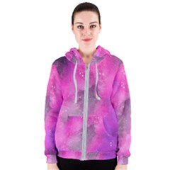 Purple Space Women s Zipper Hoodie