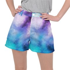 Metallic Paint Ripstop Shorts