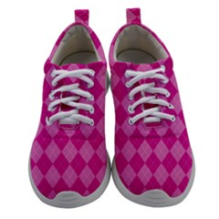 Pink Diamond Pattern Athletic Shoes