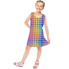 Digital Paper Stripes Rainbow Colors Kids  Tunic Dress