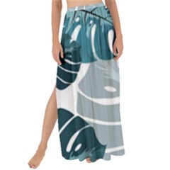 Monstera Leaves Background Maxi Chiffon Tie-up Sarong