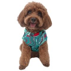 Green Vivid Marble Pattern 2 Dog Sweater by goljakoff