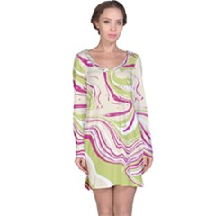 Vector Vivid Marble Pattern 6 Long Sleeve Nightdress by goljakoff