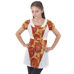Pizza Slice Puff Sleeve Tunic Top